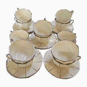 Art Deco Earthenware Mugs from Boch Freres, 1920s, Set of 12