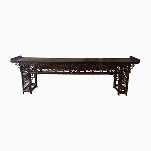 Table Console Anglo-Japonaise Antique en Bambou Laqué, 1890s