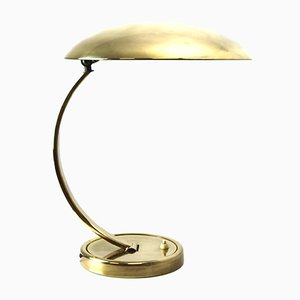 Brass Table Lamp from Hillebrand Lighting, 1940s
