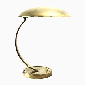 Lámpara de mesa de latón de Kaiser Idell, años 30