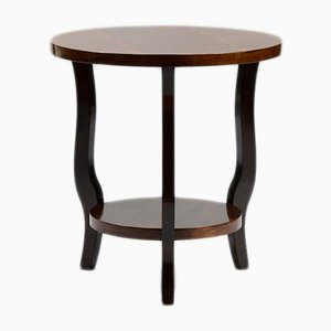 Art Deco French Walnut Veneer Side Table, 1930s