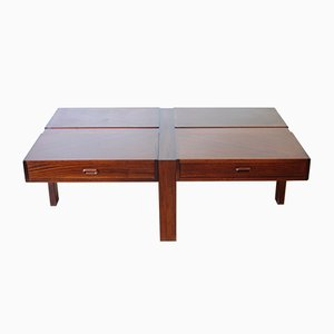 Vintage German Mahogany Coffee Table from Ronald Schmitt