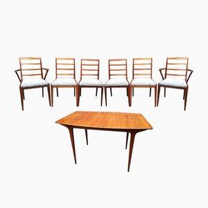 Table et Chaises de Salle à Manger en Teck de McIntosh, 1969