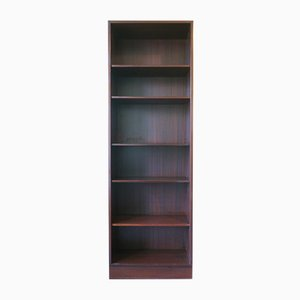 Vintage Danish Wooden Narrow Bookcase by Poul Hundevad, 1980s