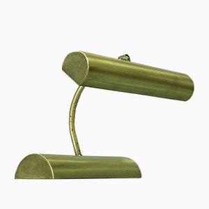Lámpara de mesa vintage de latón de Koch & Lowy para Omi, años 70