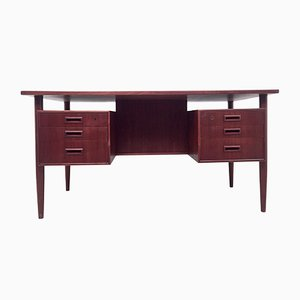 Mid-Century Danish Teak Desk by Arne Vodder, 1960s