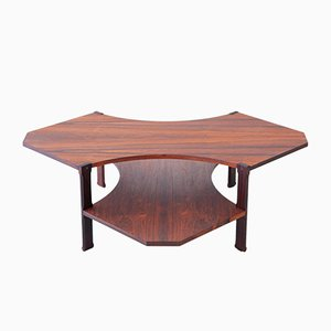 Mid-Century Italian Rosewood 2-Tier Coffee Table from Stildomus, 1950s