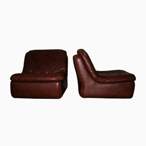 Vintage German Leather Modular Lounge Chairs, 1970s, Set of 2