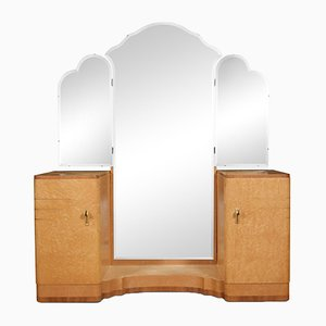Art Deco Dressing Table with Mirror, 1920s