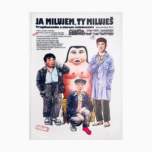 I Love, You Love Poster by Svätozár Mydlo, 1980