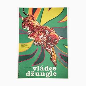 Vintage Jungle Cat Movie Poster by Dimitrij Kadrnožka, 1979