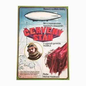 Vintage Red Tent Movie Poster by Aleš Krejča, 1971