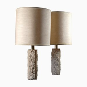 Travertine Lamps by Fratelli Mannelli, 1970s