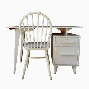 Set avec Bureau et Chaise Modernistes Mid-Century, France, 1950s