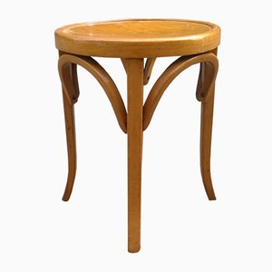 Mid-Century French Beech Stool from Baumann, 1950s