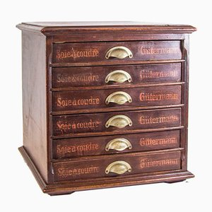Mueble de costura vintage de Gütermann
