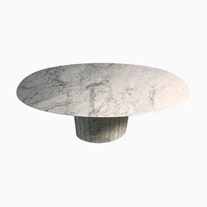 Ovaler Esstisch aus Carrara Marmor, 1970er