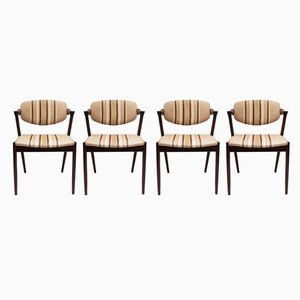 Danish Model 42 Dining Chairs by Kai Kristiansen for Schou Andersen, 1960s, Set of 4
