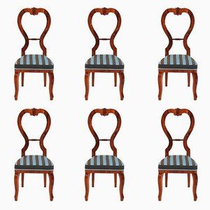 Antique Empire Cherry Dining Chairs, Set of 6
