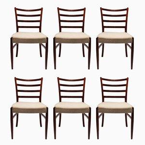 Dänische Esszimmerstühle aus Palisander & Wolle, 1960er, 6er Set