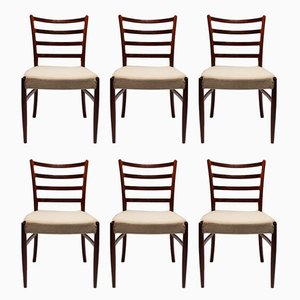 Danish Rosewood & Wool Dining Chairs, 1960s, Set of 6