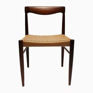 Chaises de Salle à Manger en Palissandre et Corde en Papier par H. W. Klein pour Bramin, Danemark, 1960s, Set de 6
