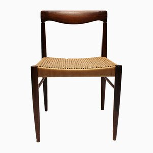 Danish Rosewood and Paper Cord Dining Chairs by H. W. Klein for Bramin, 1960s, Set of 6