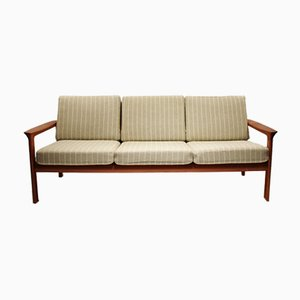 Vintage Danish Teak and Wool Sofa by Svend Ellekær for Komfort