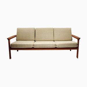 Vintage Danish Teak and Wool Sofa by Svend Ellekær for Komfort