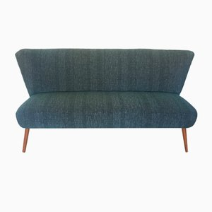 Blaues Mid-Century Sofa aus Baumwoll-Kanevas, 1950er