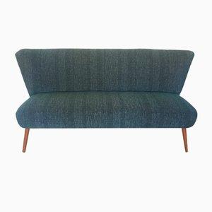 Mid-Century Blue Duck Cloth Sofa, 1950s