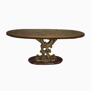 Mesa de comedor italiana vintage de La Permanente Mobili Cantù, años 40