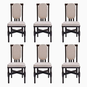 Italian Side Chairs by Leonardo Fiori for ISA Bergamo, 1960s, Set of 6