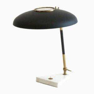 Lampe de Bureau en Aluminium et Laiton par Oscar Torlasco pour Stilux Milano, Italie, 1950s