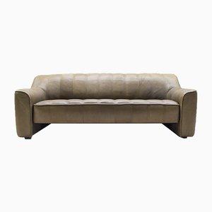 Sofá de tres plazas DS-33 vintage de cuero de de Sede, años 70