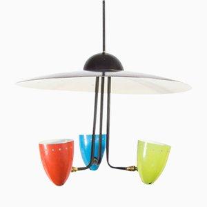Dreifarbige Vintage Deckenlampe von H. Th. J.A. Busquet für Hala, 1950er