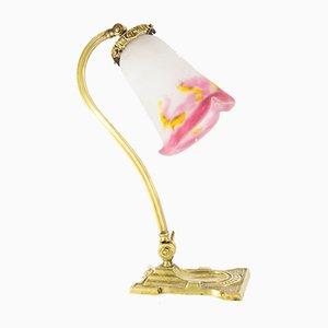 Lámpara de mesa antigua de Muller Frères