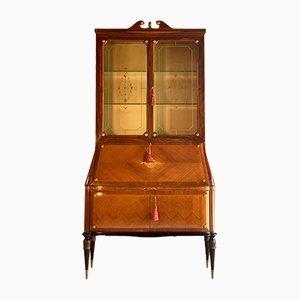 Italian Kingwood Marquetry Bookcase by Paolo Buffa for Fratelli Lietti, 1940s