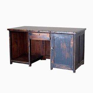 Mid-Century Schreibtisch aus Tannenholz, 1940er