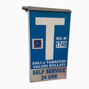 Italienisches Vintage Schild aus Tabak, 1970er