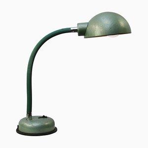 Grüne industrielle Arbeitslampe aus Metall, 1950er
