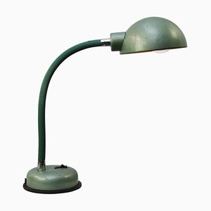 Industrial Green Metal Workshop Desk Lamp, 1950s