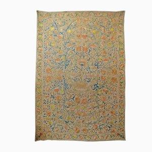 Tapiz bordado indo-portugués antiguo
