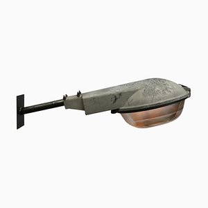 Industrial Grey Aluminum and Cast Iron Sconce, 1950s