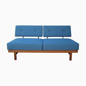 Sofá cama Stella alemana Mid-Century azul de Wilhelm Knoll, años 60