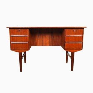 Mid-Century Danish Teak Veneer Desk, 1960s