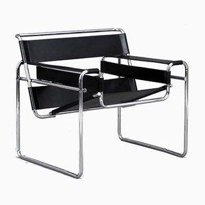 Silla Bauhaus Wassily B3 de Marcel Breuer para Gavina, años 70