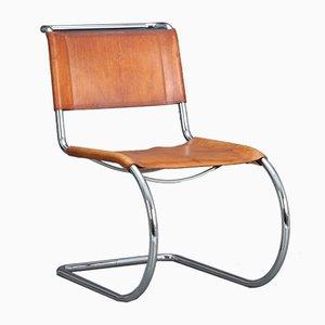 Sedia cantilever MR10 di Ludwig Mies van der Rohe per Thonet, anni '80