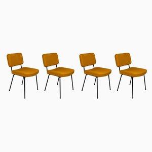 Französische Stühle von André Simard für Airborne, 1950er, 4er Set