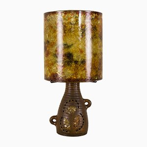French Ceramic Table Lamp from Accolay, 1960s